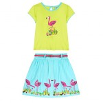 Flamingo and cactus 2 piece set