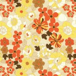 70s Style Floral Print