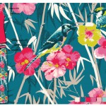 Yumi Sleep Bird and Bamboo Print