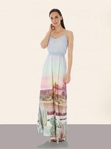 Palm Springs Print For Uttam Boutique Full Length Dress