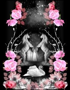 Digital Unicorn Print For Yumi London